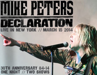 Mike Peters - Declaration - Iridium, New York, Saturday, March 15th 2014.