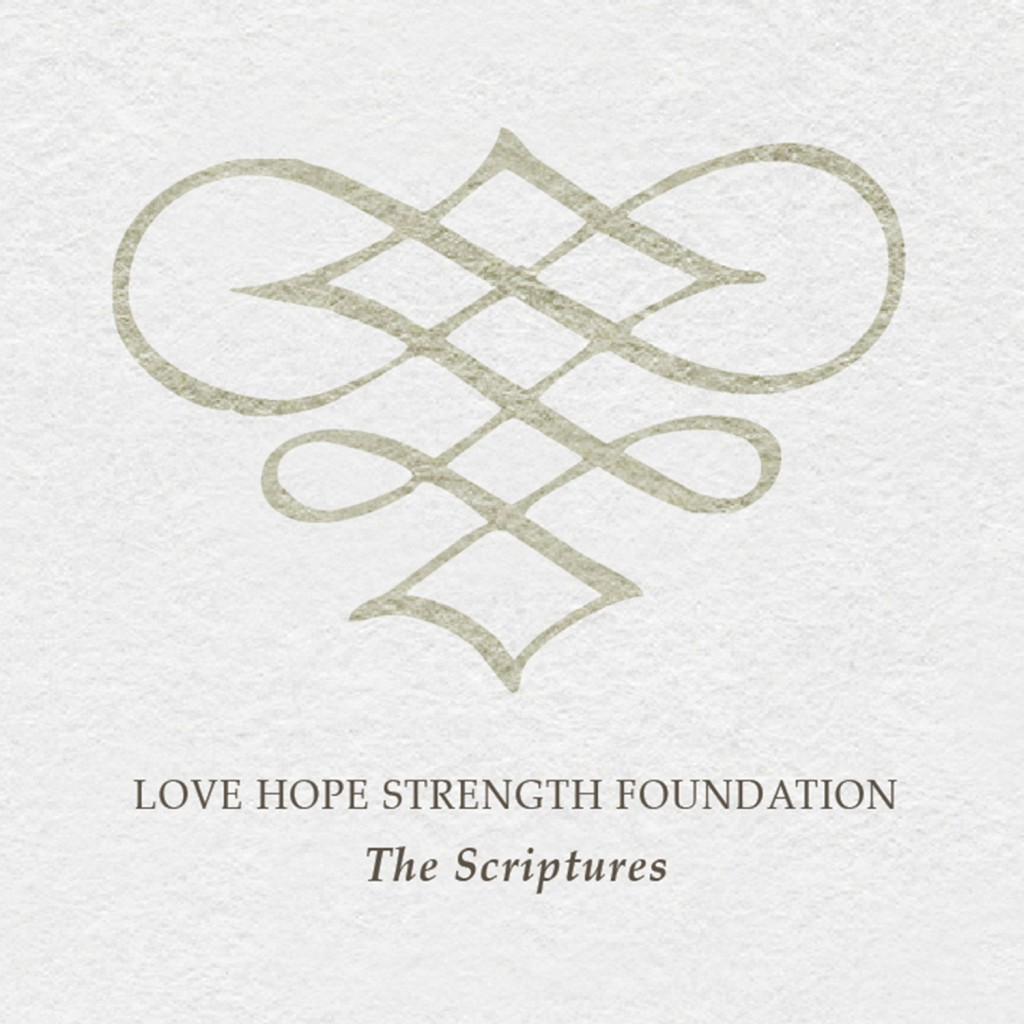 the scriptures on sale now love hope strength foundation